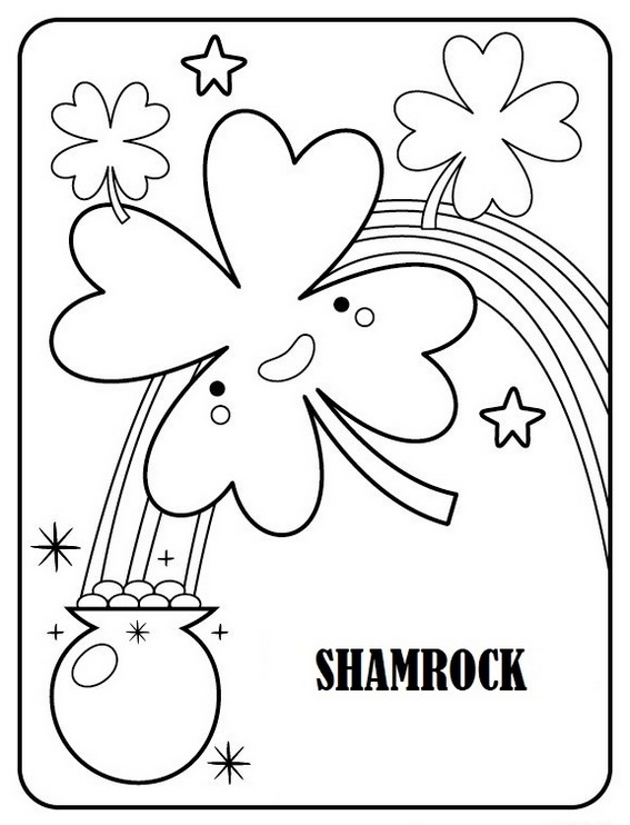 Shamrock ireland coloring sheet