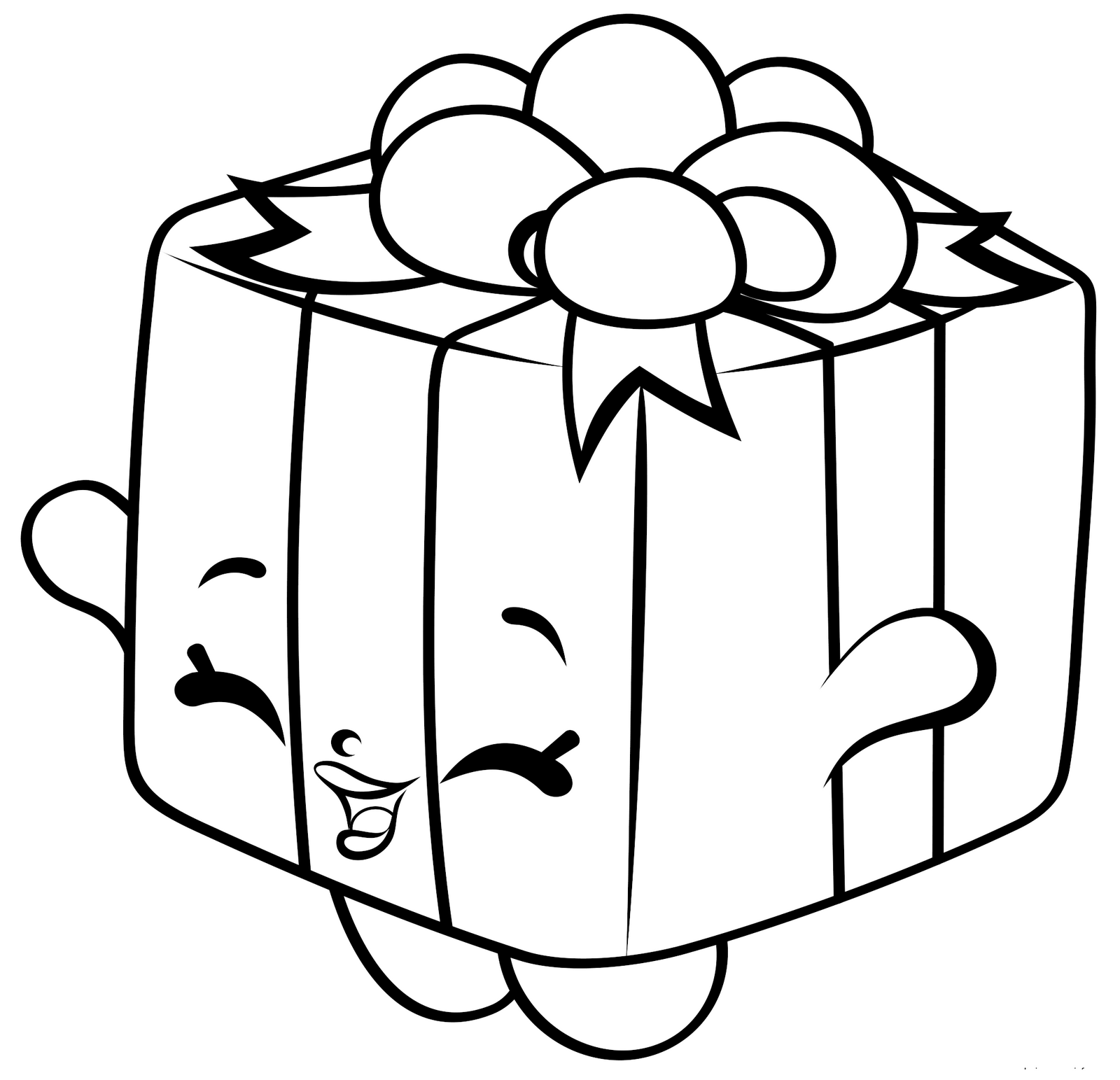 Shopkins Gift Coloring Sheet