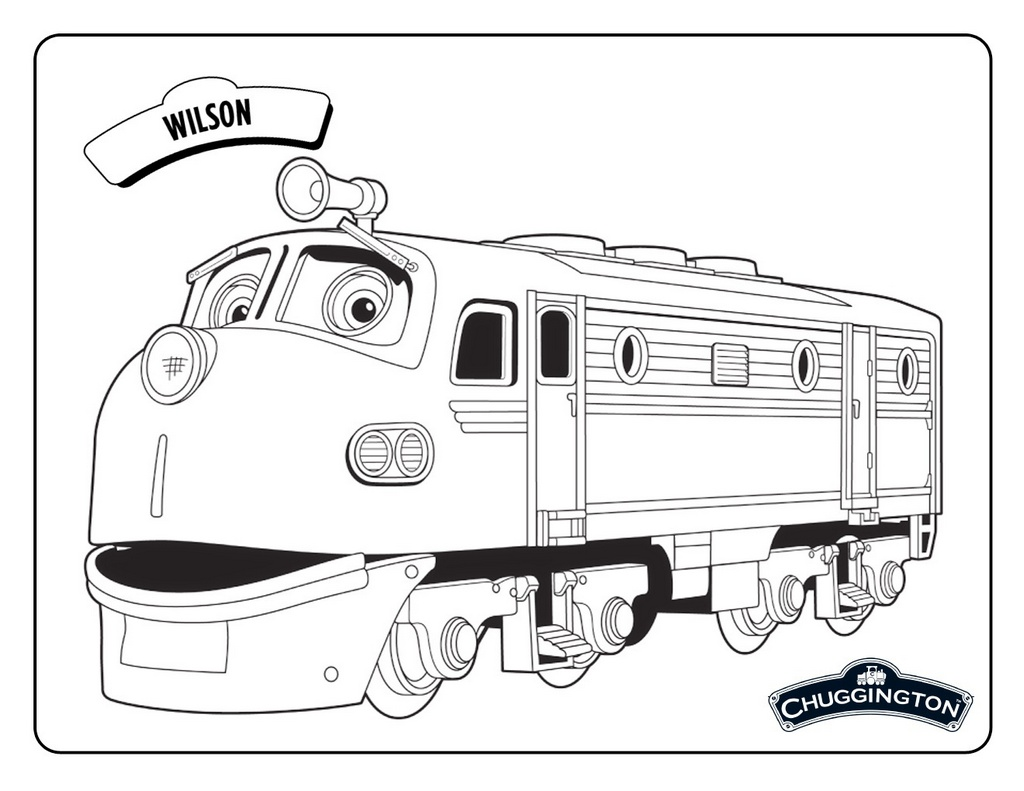 Wilson Chuggington Coloring Picture