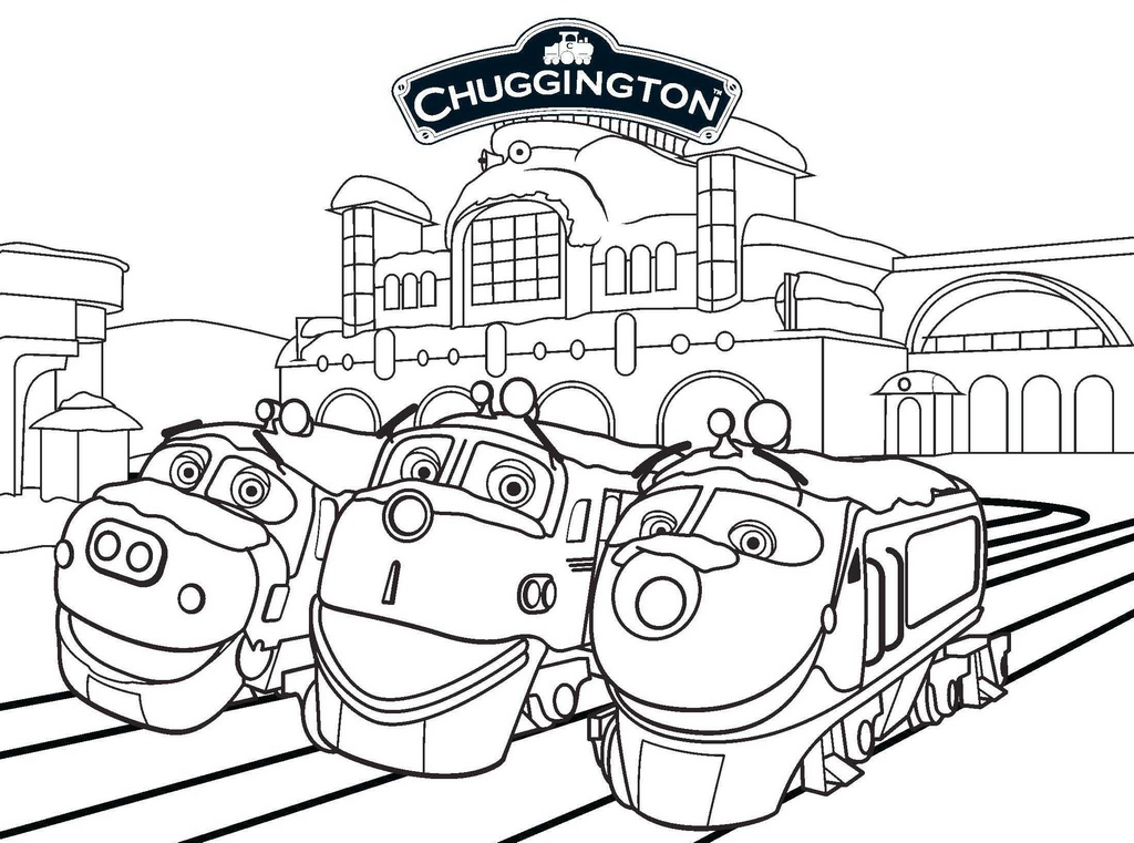 Wilson Koko and Brewster from Chuggington Coloring Sheet Printable
