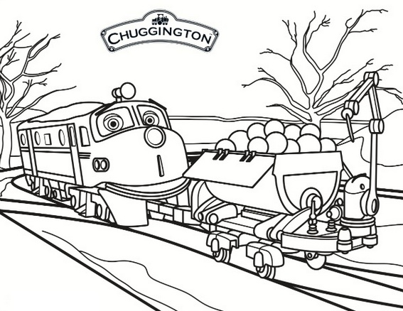 Wilson from Chuggington Coloring Book for Kids