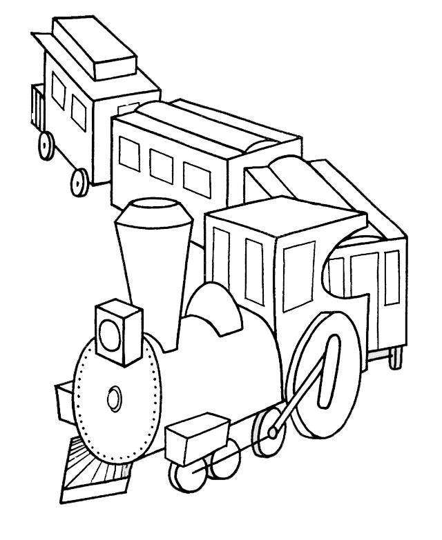 a train block toy coloring sheet