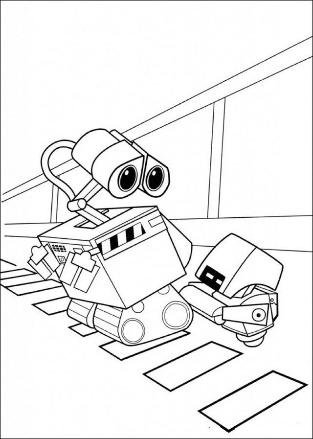 animated coloring pages wall e picture