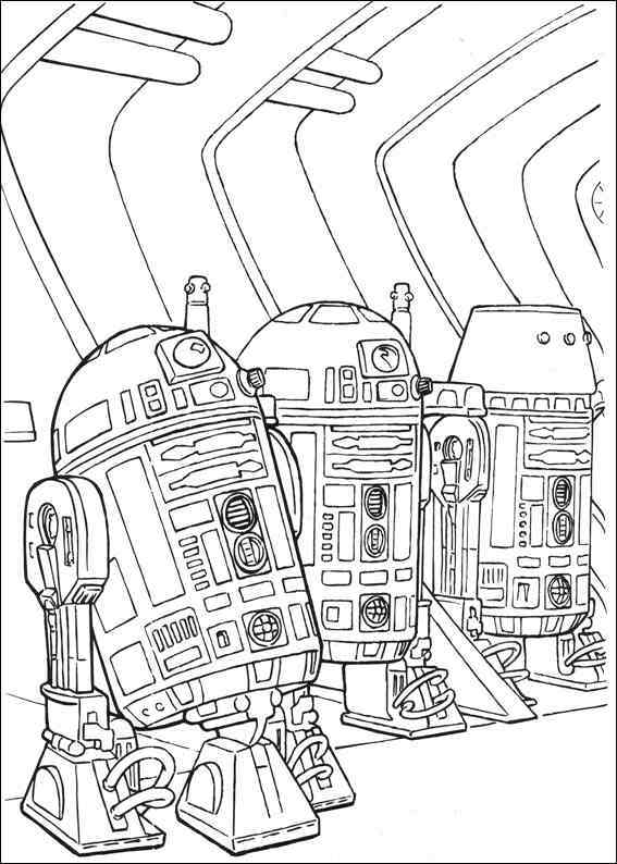 astromech droid r2 d2 coloring picture