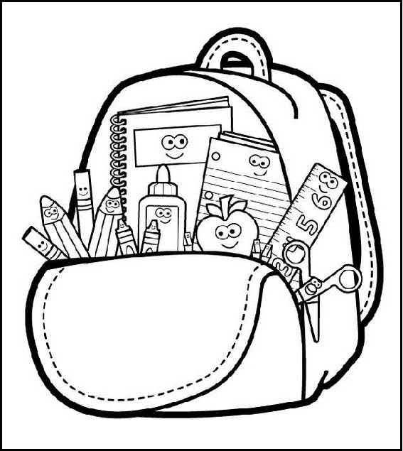 bag backpack coloring page online