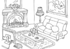 Inspired Living Room Coloring Pages