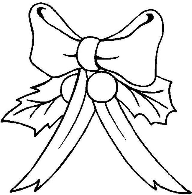 bow chirstmas coloring sheet