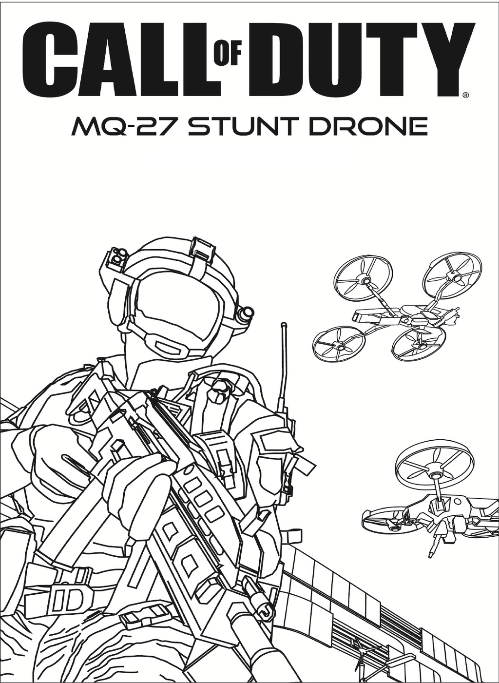 call of duty and drones coloring pages