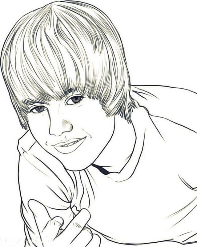 cool justin bieber coloring pages for justin fans