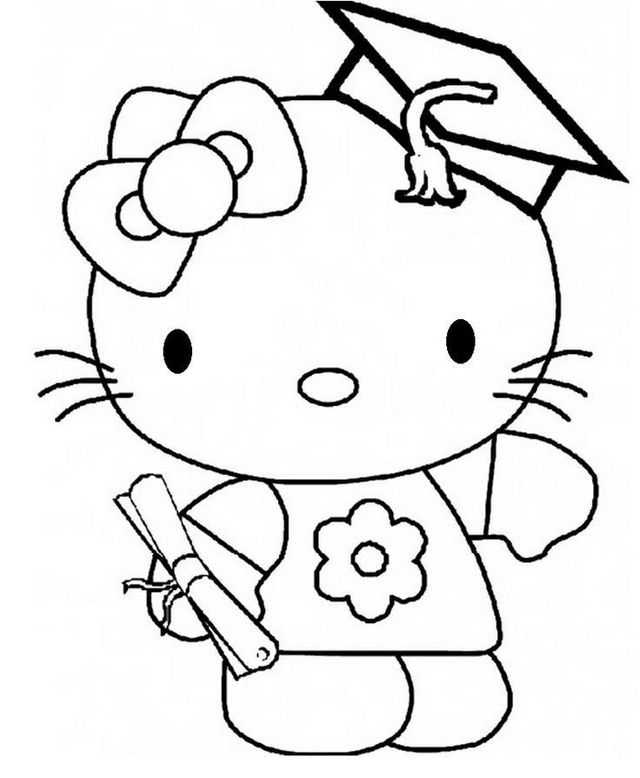 cute hello kitty graduation hello kitty graduation coloring sheet