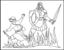 David and Goliath's Story Coloring Pages for Kids Improving Confidence in God