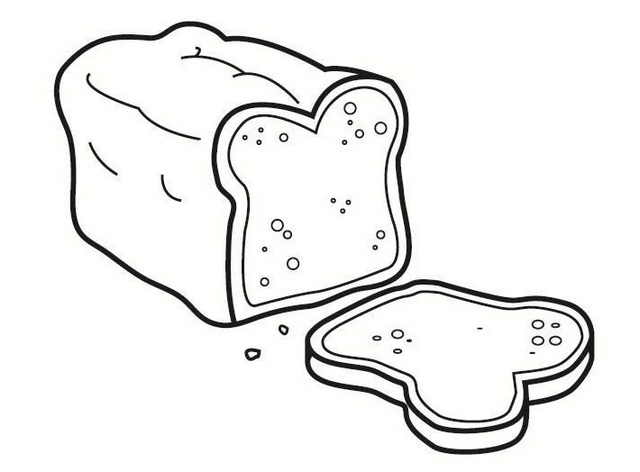 delicious bread coloring sheet