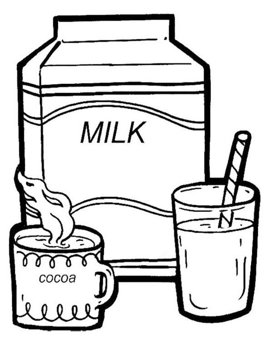 drink milk every morning coloring picture