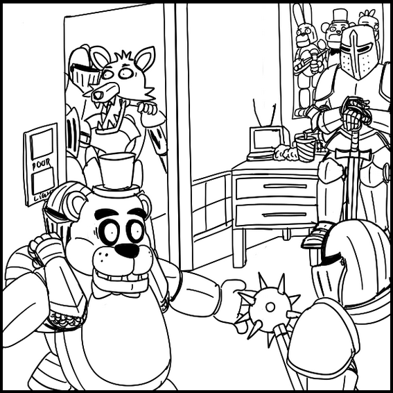 fnaf games coloring pages for fans of fnaf