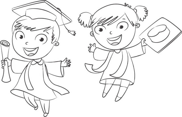 The Wonderful and Fun Graduation Coloring Pages with Various Themes ...