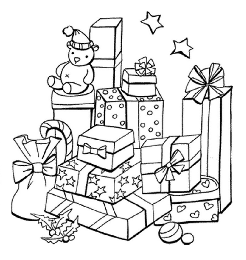 gifts christmas coloring picture online