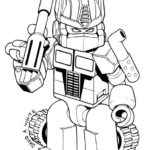 lego optimus prime coloring picture