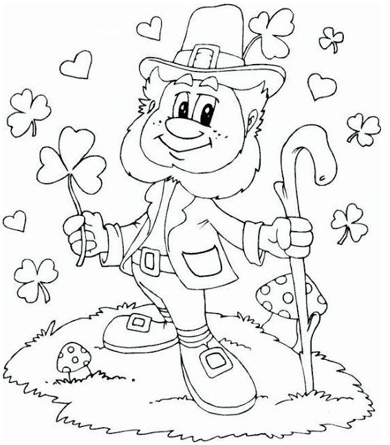 leprechaun fairy of the Aos Si coloring sheet