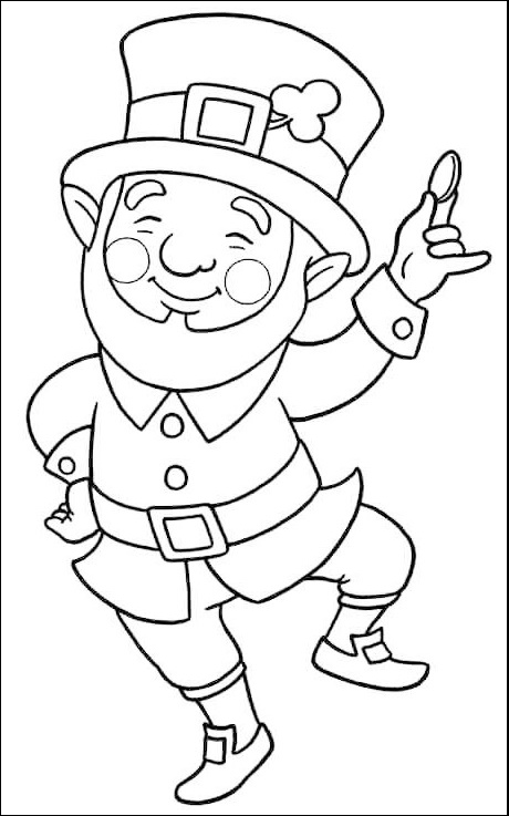 leprechaun folk legend coloring picture