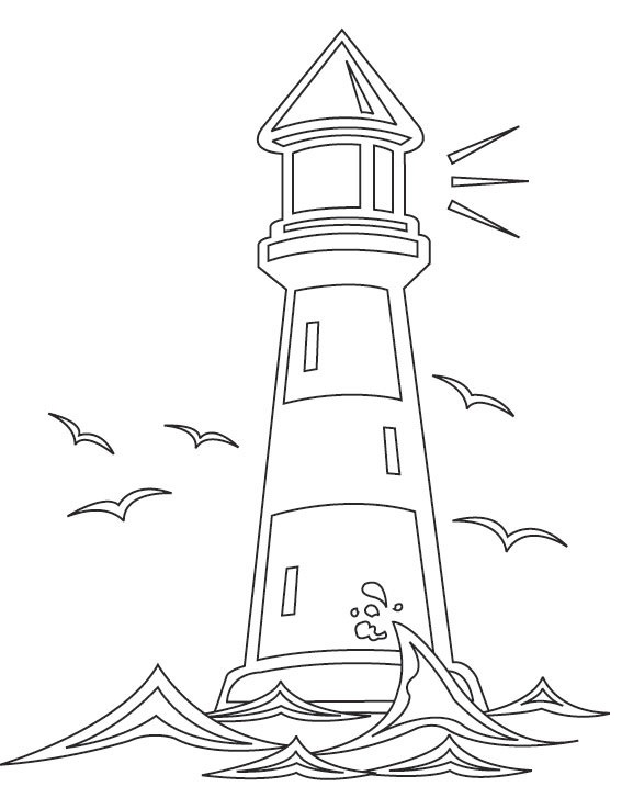 lighthouse coloring picture design