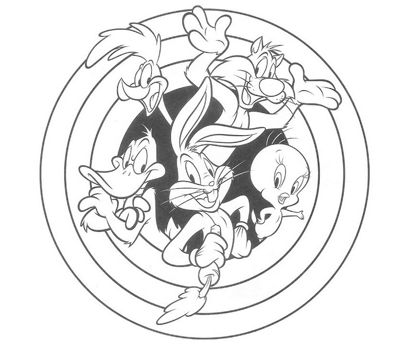 looney tunes character coloring sheet printable