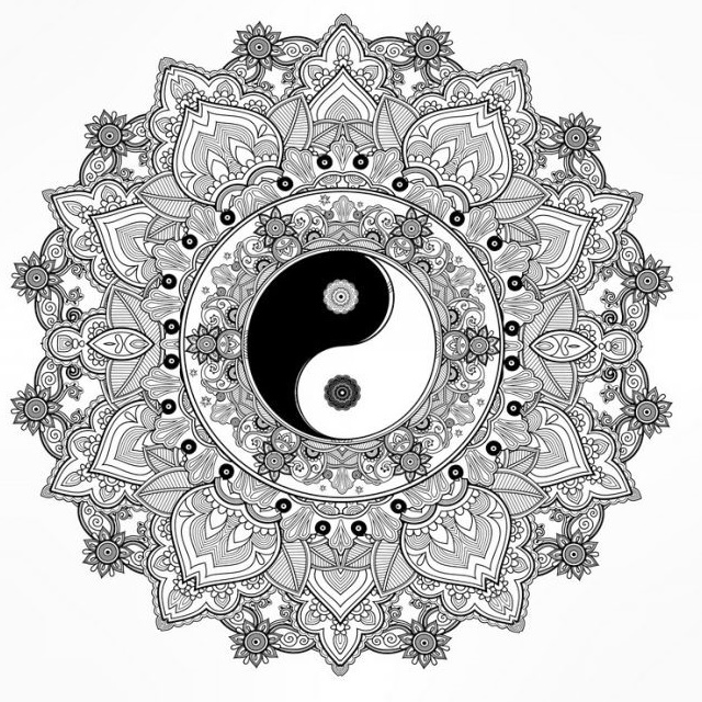 Popular Mandala Yin Yang Coloring Page Collection Coloring