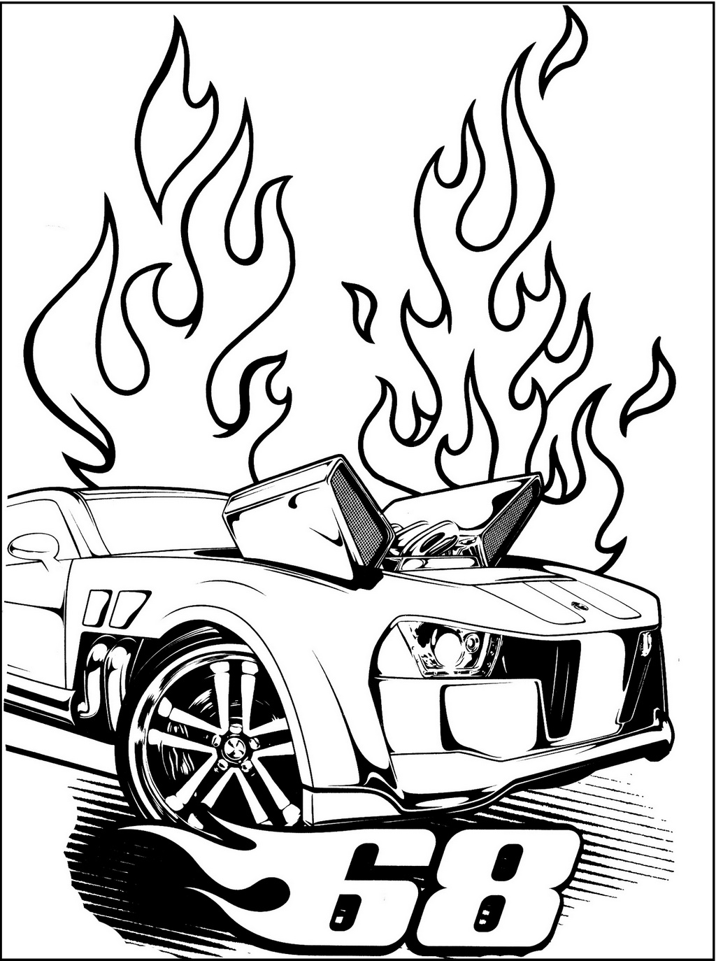 mattel hot wheels coloring page car racing car coloring sheet