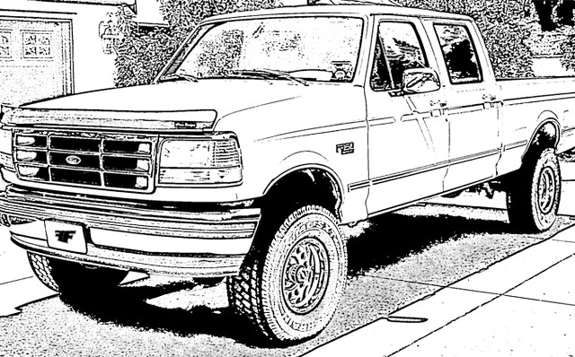 models ford truck coloring sheet