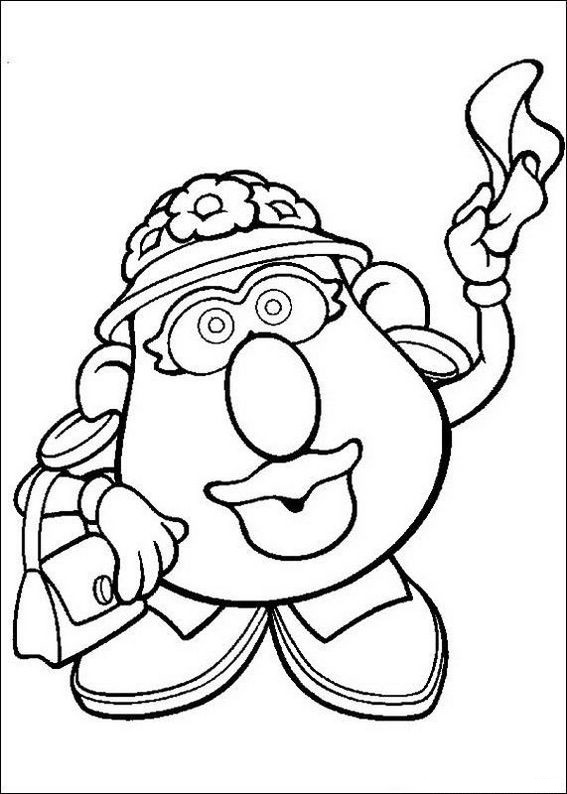 mr potato head toy coloring page for children