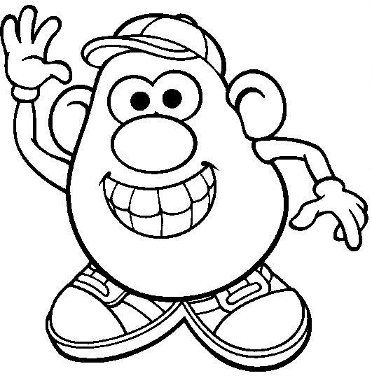 mr potato head toy story coloring printable sheet