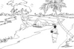 Scenery from Around the World Coloring Pages