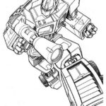 optimus prime in war coloring picture