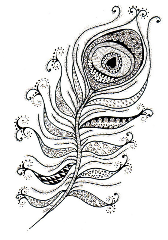 peacock feather coloring sheets zentangle