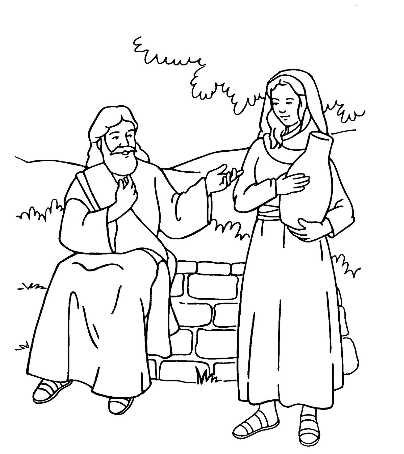 Samaritan Woman At The Well Coloring Page - Photos Coloring Page ...