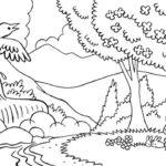 scenery coloring printable picture