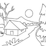 scenery landscape coloring picture