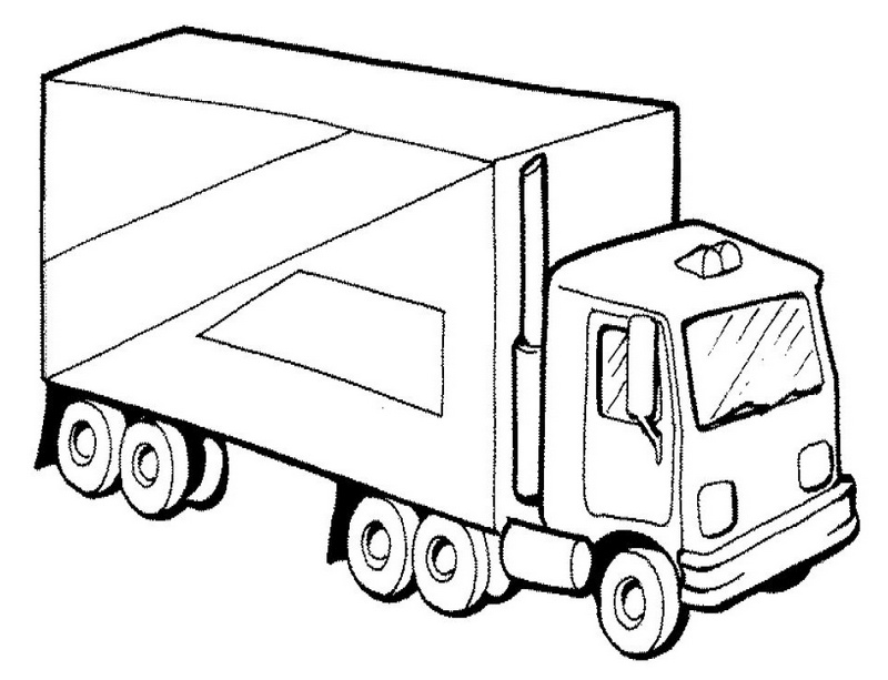semi truck coloring sheet printable