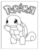 Squirtle Coloring Pages for Pokemon Fans