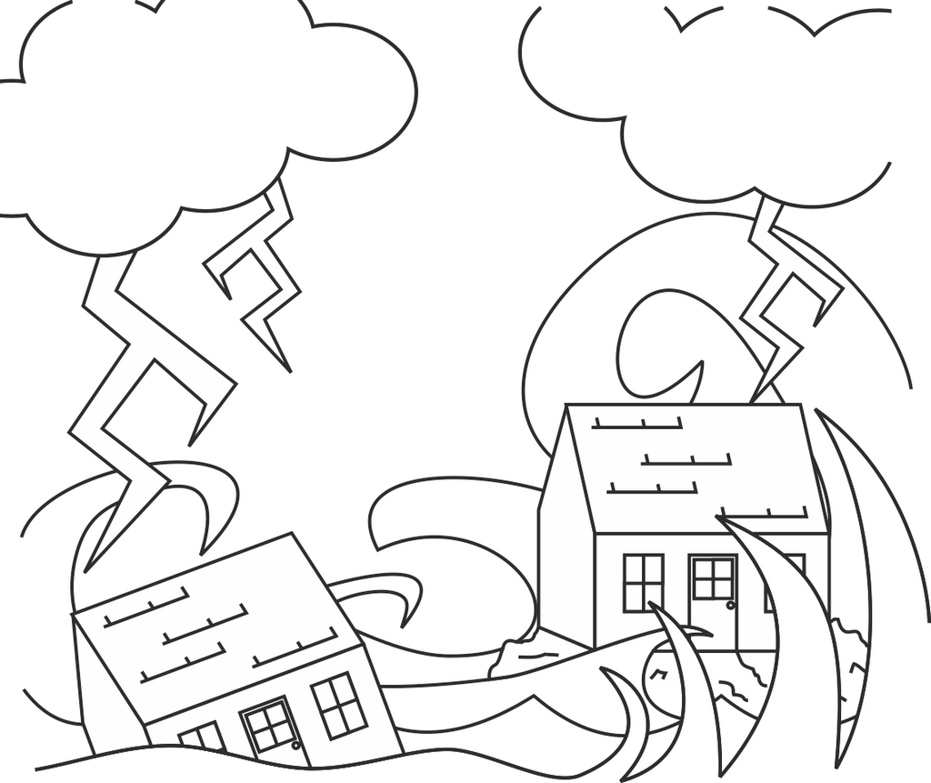 The wise and the foolish builders story coloring picture for Wise man foolish man coloring page