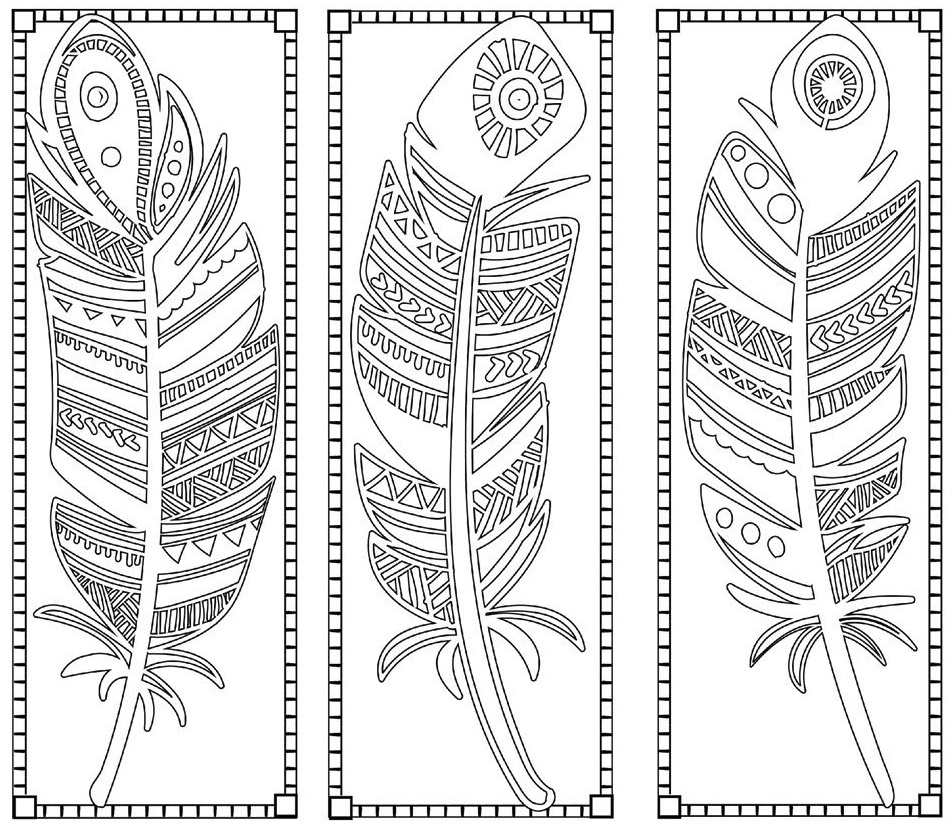 the most beautiful types of feathers coloring sheets