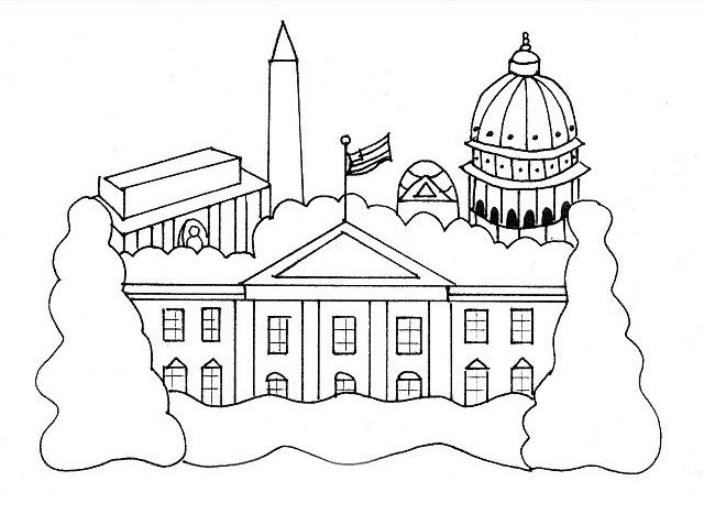 The White House Coloring Sheet For Kids