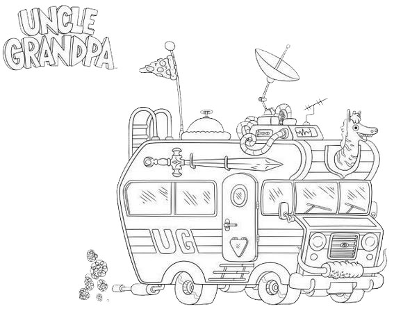 uncle grandpa coloring sheet for kids