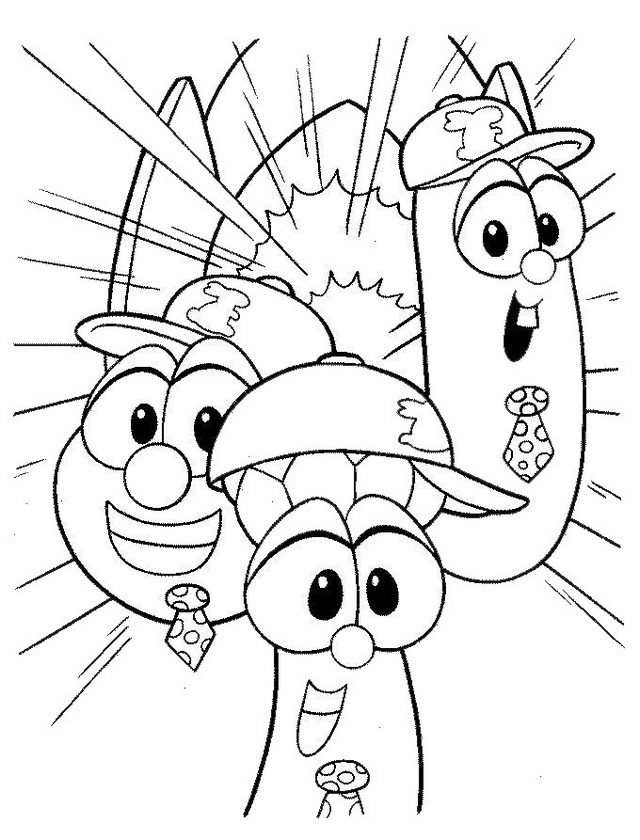 veggie tales coloring and drawing page