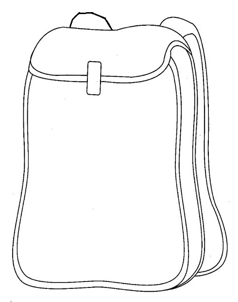 womens backpak coloring sheet