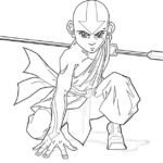 Aang from Avatar coloring sheet