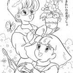 Bestì Minky Momo coloring sheet