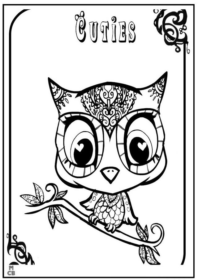 Best Owl Littlest petshop coloring sheet online