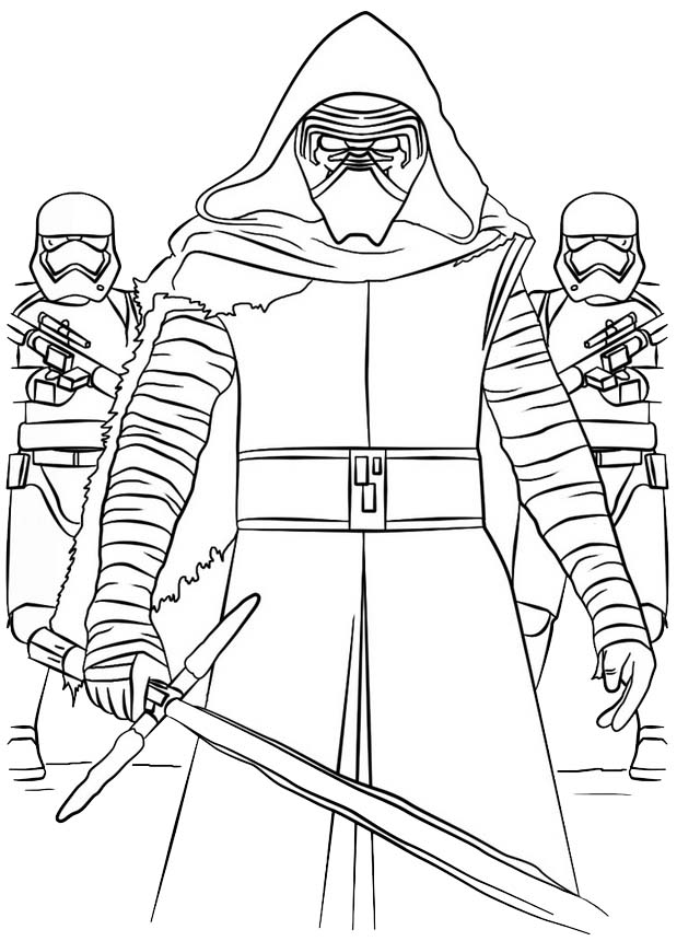 Best Star Wars Kylo Ren Coloring Sheet