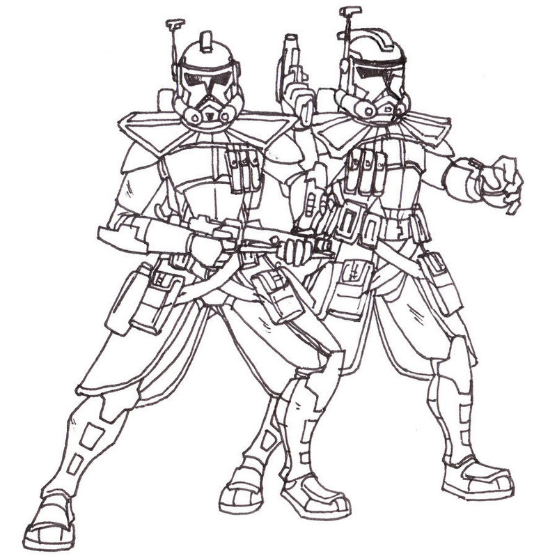 Clone ARC Trooper Captain Coloring Pictures