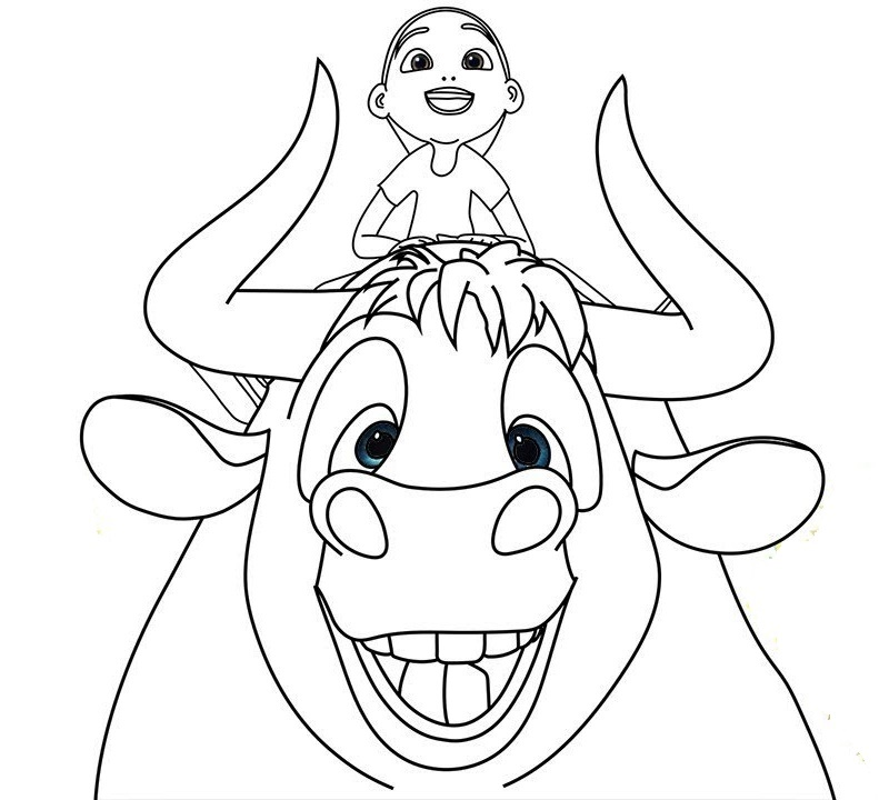 Ferdinand and Nina Coloring Movie Sheet for Children
